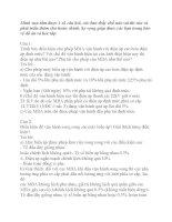 CÂU HỎI VẤN ĐÁP BẢO VỆ ĐỒ ÁN CUNG CẤP ĐIỆN PHẦN 1