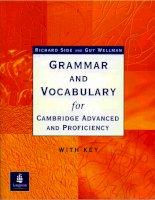 Vocabularyfor cambridge advancedand proficiency  Ngữ pháp tiếng Anh nâng  cao cho người thành thạo