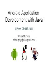 Adroid application development with java