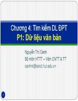 slike bài giảng cơ sở dữ liệu đa phương tiện - nguyễn thị oanh chương 4c tìm kiếm dl đptp1 dữ liệu văn bản1