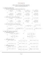 Đề cương ôn tập chương lượng giác 11