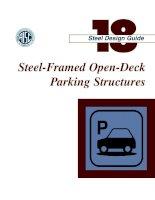 aisc design guide 18 - steel-framed open-deck parking structures