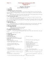 Giáo án lớp 3 - Tuần 12