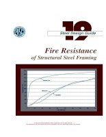 aisc design guide 19 - fire resistance of structural steel framing