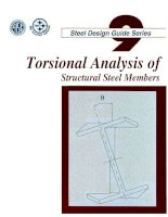 aisc design guide 9 - torsional analysis of structural steel members