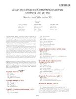 design and construction of reinforced concrete chimneys (aci 307-98)