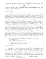 SKKN: RÈN LUYỆN KỸ NĂNG SỐNG CHO HỌC SINH QUA MỘT SỐ  TIẾT DẠY TIẾNG ANH LỚP 9