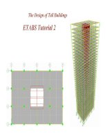The design of tall buildings ETABS tutorial 2