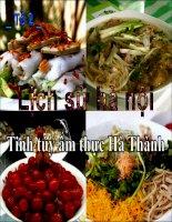 Lịch sử Hà Nội (ẩm thực)
