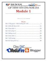giáo trình lập trình viên công nghệ java module 1