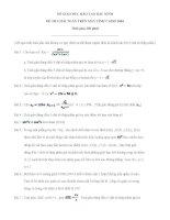 Tuyển tập 70 đề thi môn Toán trên máy tính bỏ túi-CasioFx500MS toàn quốc