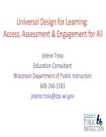 access, assessment and engagement for all