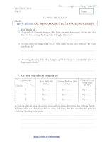 Báo cáo thực hành Vật lý 9 - Bài 15