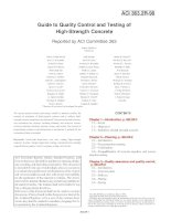 guide to quality control and testing of high-strength concrete