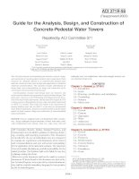 guide for the analysis, design, and construction of concrete-pedestal water towers