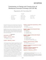 commentary on design and construction of reinforced concrete chimneys (aci 307-98)