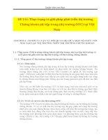 Thực trạng và giải pháp phát triển thị trường chứng khoán phi tập trung (thị trường OTC) tại việt nam