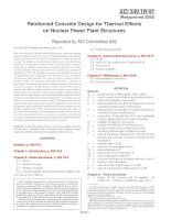 reinforced concrete design for thermal effects on nuclear power plant structures