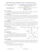 Tuyển tập các đề thi học sinh giỏi môn Vật lý lớp 9 cấp huyện và tỉnh (có đáp án chi tiết)