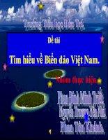 Đề tài Tìm hiểu về biển đảo Việt Nam