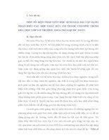 SKKN: MỘT SỐ BIỆN PHÁP GIÚP HỌC SINH GIẢI BÀI TẬP DẠNG NHẬN BIẾT CÁC HỢP CHẤT HỮU CƠ THUỘC CHƯƠNG TRÌNH HÓA HỌC LỚP 9 Ở TRƯỜNG THCS TRẦN QUỐC TOẢN