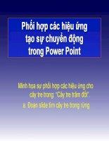 Minh họa sự phối hợp các hiệu ứng trong Power Point