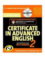 cambrige certificate in advanced english 2