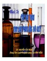 Các BT kim loại PU với axit