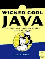 wicked cool java - code bits, open-source libraries, and project ideas (2005)