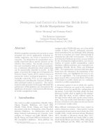 development and control of a holonomic mobile robot for mobile manipulatoion tasks