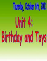 UNIT 5- BIRTHDAY AND TOYS