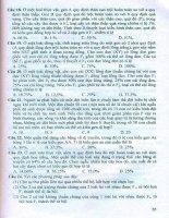 Bộ đề thi trắc nghiệm khách quan sinh học Phan Khắc Nghệ (phần 2.9)