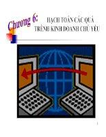 bài giảng nguyên lý kế toán chương 6 - Hạch toán các quá trình Kinh doanh chủ yếu