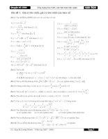 Ứng dụng của đạo hàm và BT liên quan