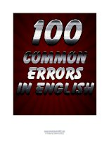 free sample 100 common errors in english