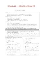 Chuyên đề Khỏa sát hàm số