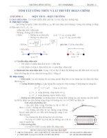 Tóm tắt công thức lý thuyết và bài tập vật lý 11 nâng cao