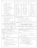 tổng hợp công thức toán cấp 3