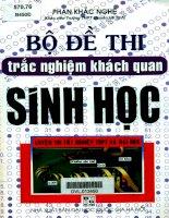 Bộ đề thi trắc nghiệm khách quan Sinh học  Phan Khắc Nghệ (phần 1.9)