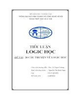 Tiểu luận logic học: Đề tài 20 câu truyện về logic học