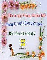 Chương 2- Bài 2: Trò chơi Blocks