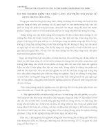 THÍ NGHIỆM KIỂM TRA CHẤT LƯỢNG SẢN PHẨM XÂY DỰNG SỬ DỤNG TRONG THI CÔNG
