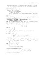 Chuyên đề PT và hệ PTđại số