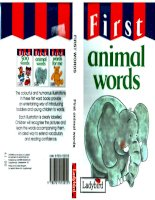 first animal words