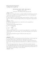 Đề thi olympic hóa học 8  THCS Thanh Văn  20132014