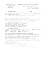 Đề thi học sinh giỏi hóa học 8 THCS Phù Lãng (2007_2008)