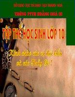 Bài 10 . Thời kì hình thành và phát triển của chế dộ phong kiến tây Âu
