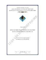 Khảo sát hiện trạng và đề xuất giải pháp quản lý rừng ở trung tâm hòa an