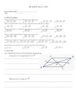 Kiểm tra 1 tiết chương I Hình học 10 (2011-2012)