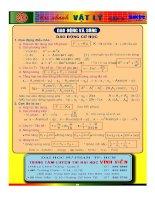 Tóm tắt lý thuyết Dao động cơ học